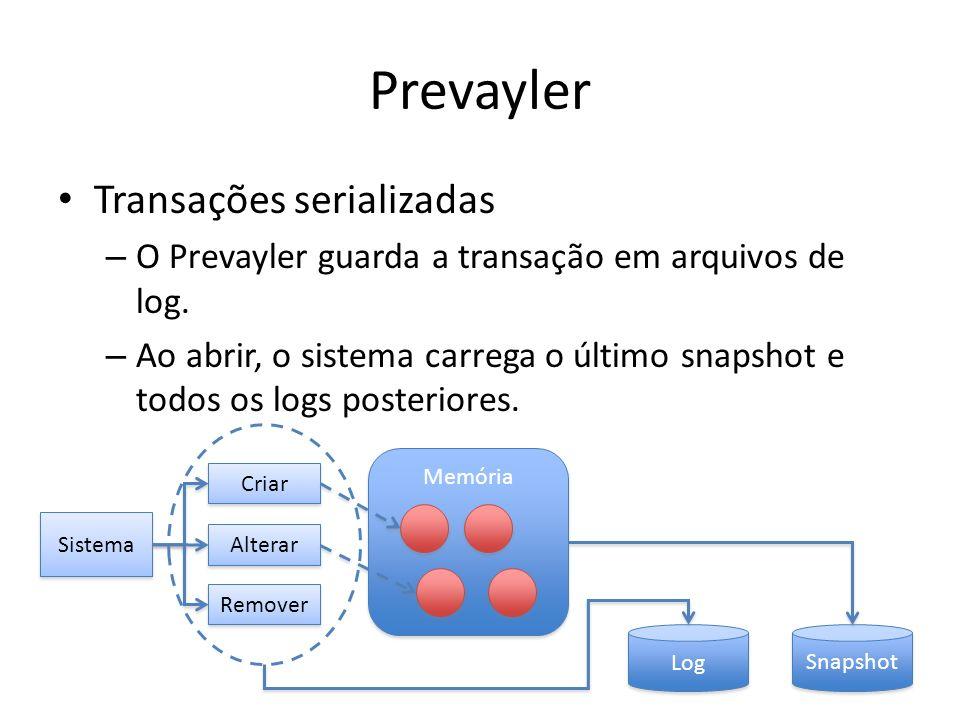 Prevayler Transações serializadas