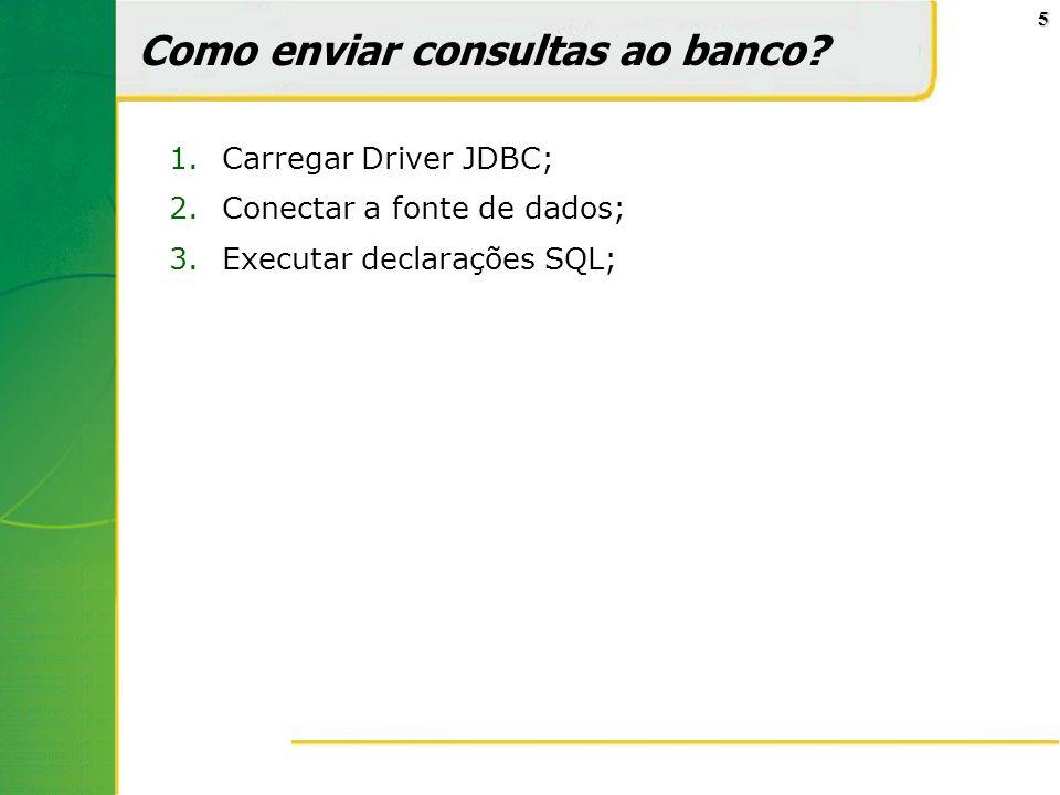 Como enviar consultas ao banco
