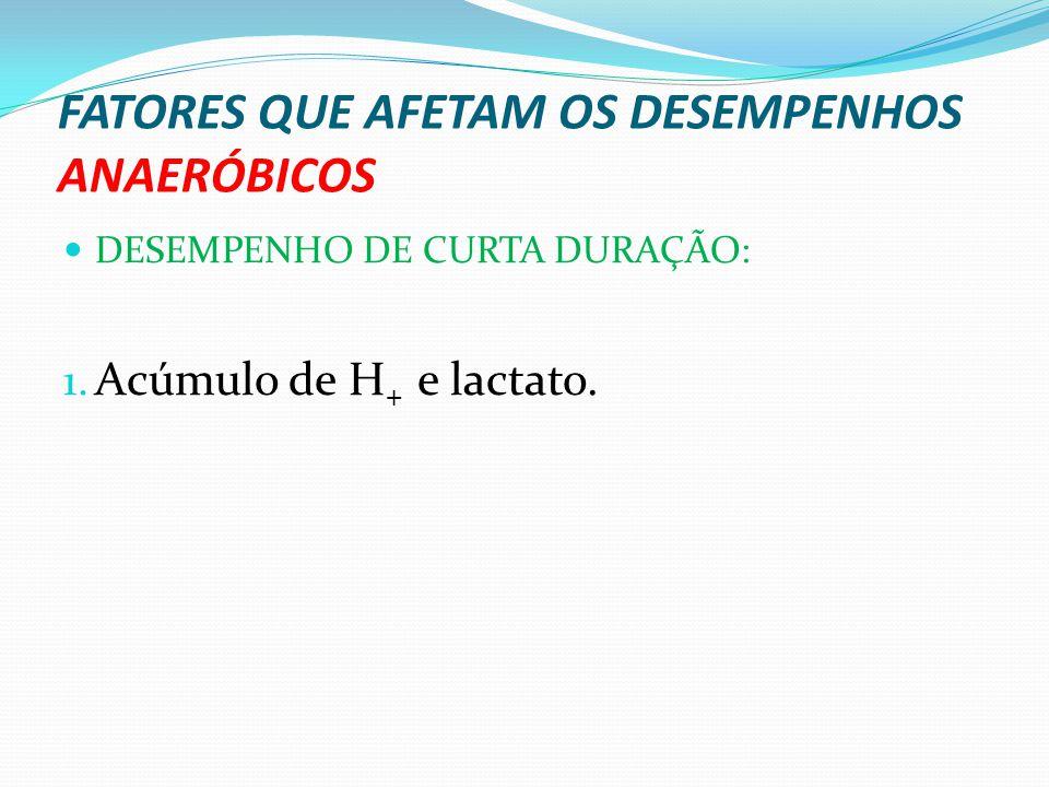 FATORES QUE AFETAM OS DESEMPENHOS ANAERÓBICOS