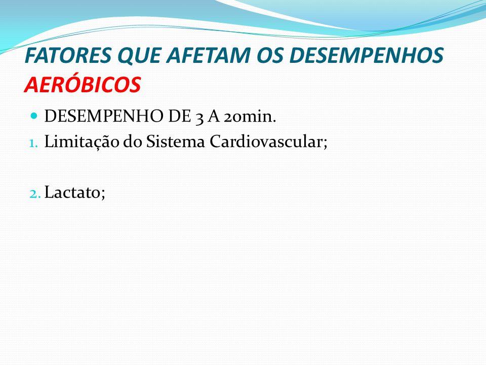 FATORES QUE AFETAM OS DESEMPENHOS AERÓBICOS