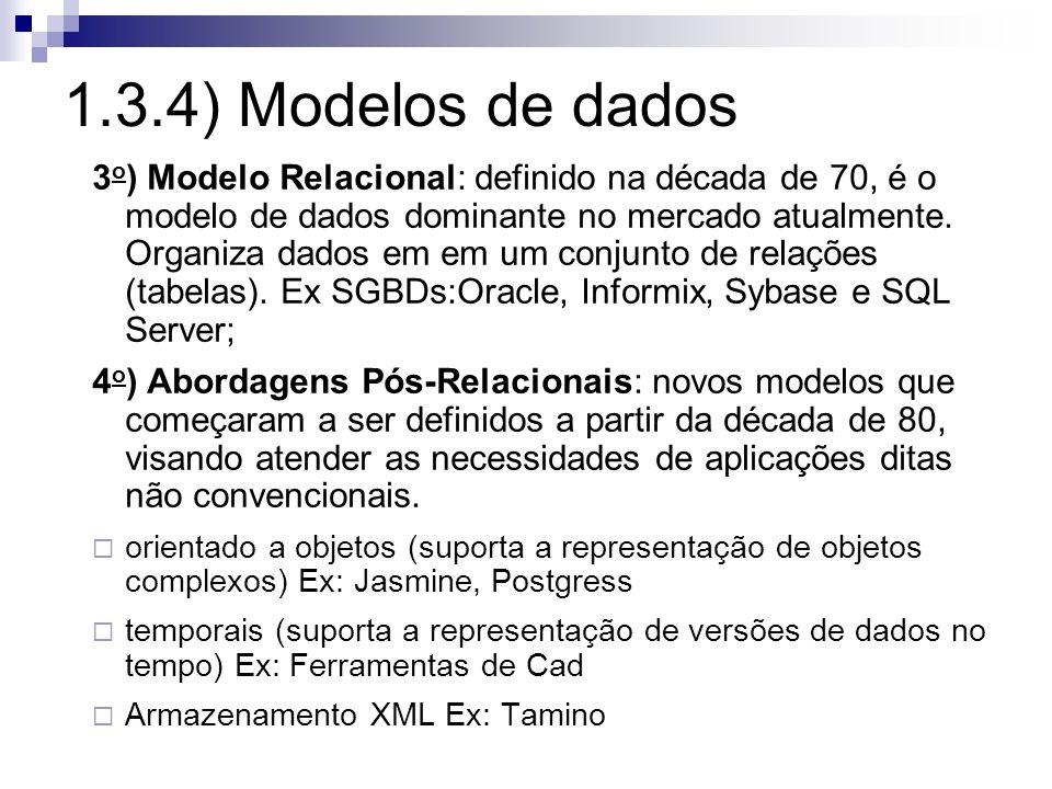 1.3.4) Modelos de dados