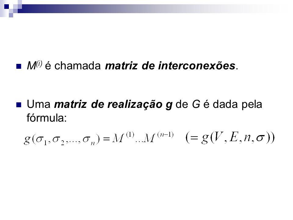 M(i) é chamada matriz de interconexões.