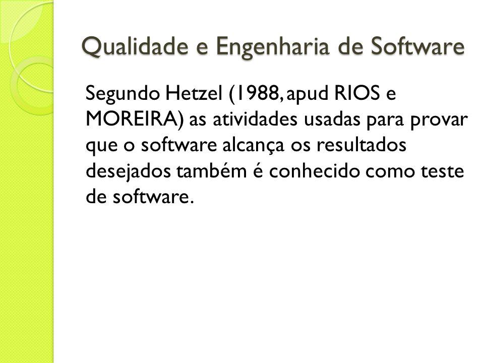 Qualidade e Engenharia de Software