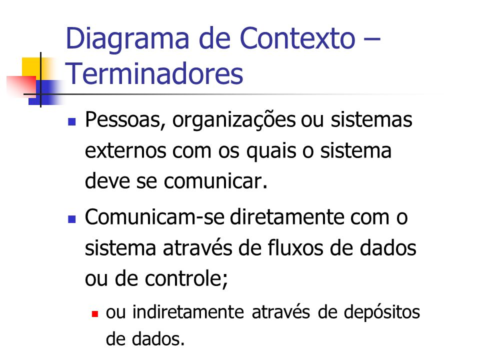 Diagrama de Contexto – Terminadores