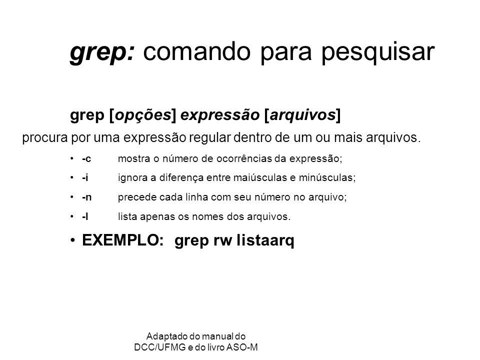 grep: comando para pesquisar