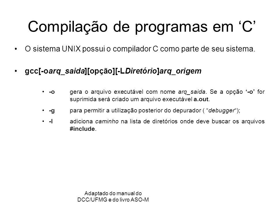 Compilação de programas em 'C'