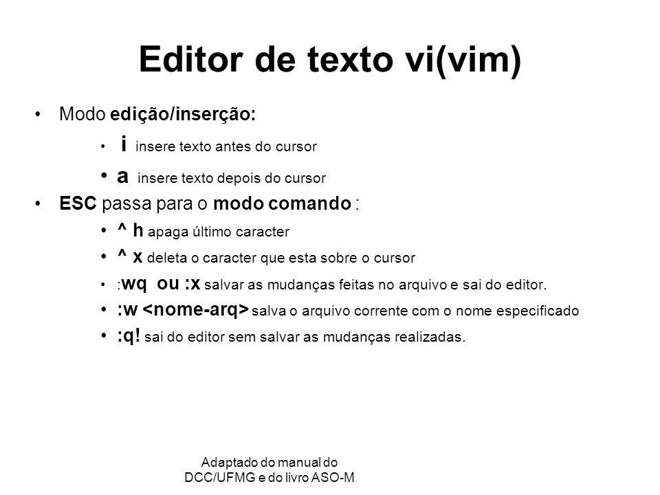 Editor de texto vi(vim)