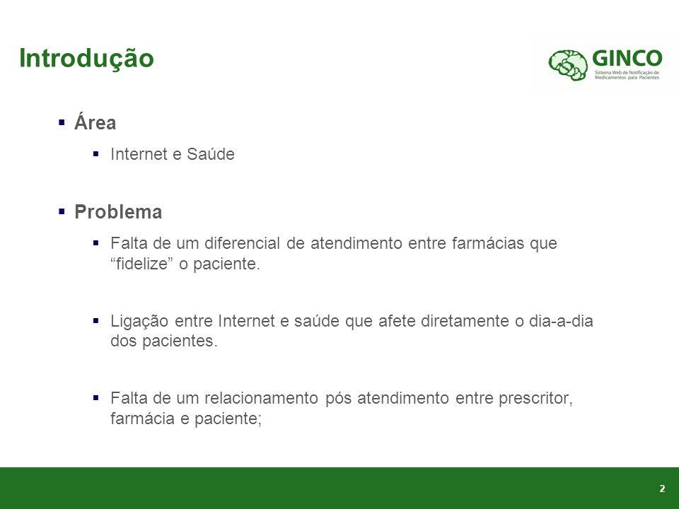 Introdução Área Problema Internet e Saúde