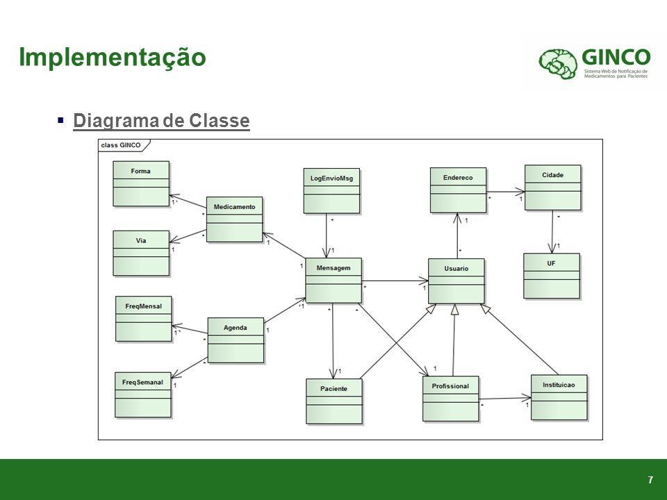 Implementação Diagrama de Classe