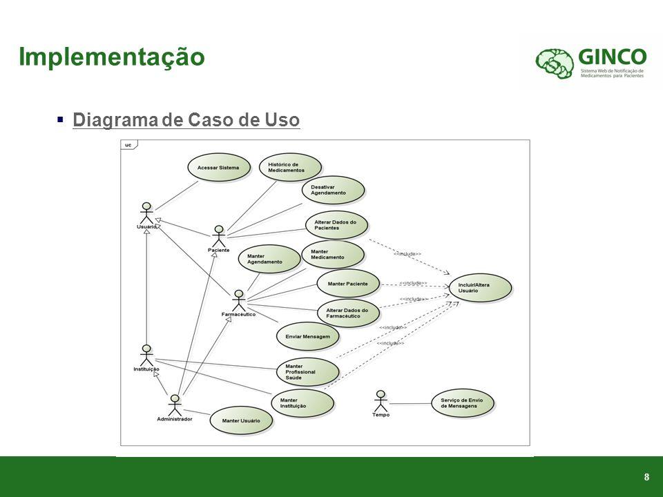 Implementação Diagrama de Caso de Uso