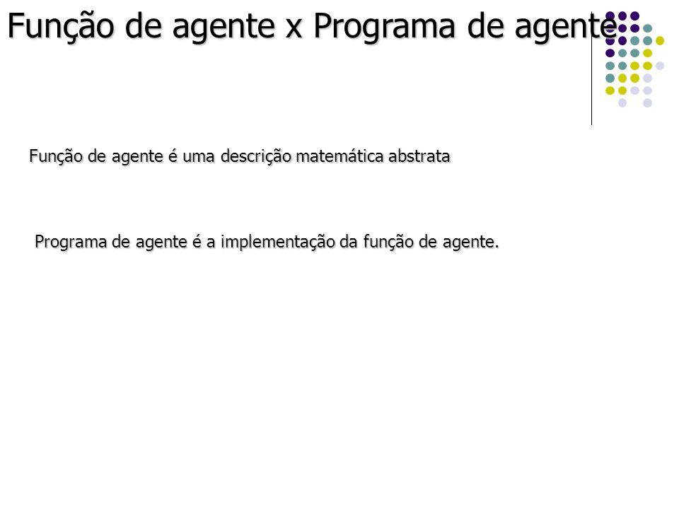 Função de agente x Programa de agente