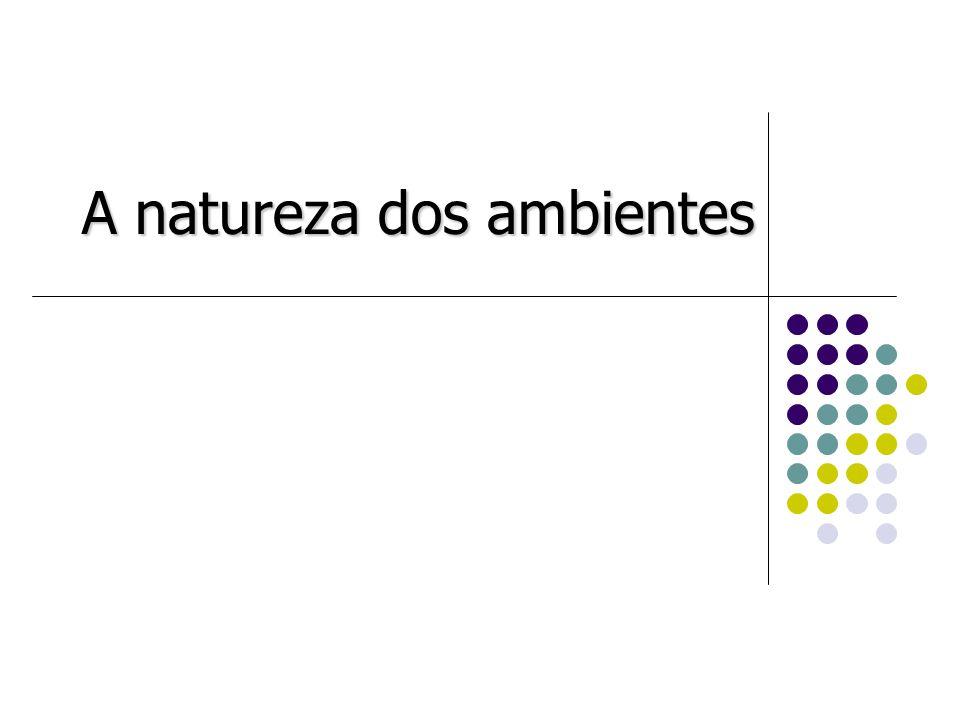 A natureza dos ambientes