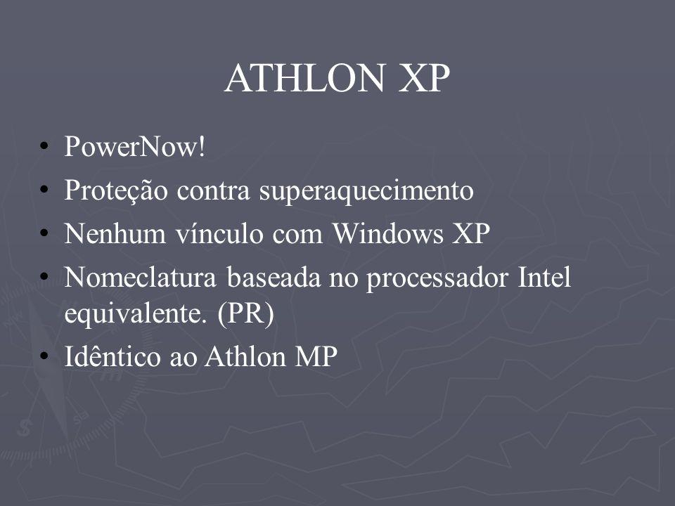 ATHLON XP PowerNow! Proteção contra superaquecimento