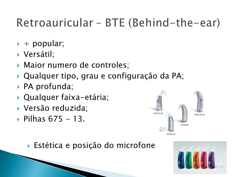 Retroauricular – BTE (Behind-the-ear)
