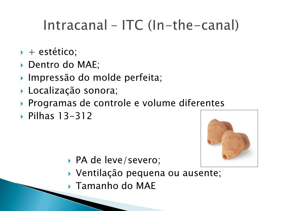 Intracanal – ITC (In-the-canal)