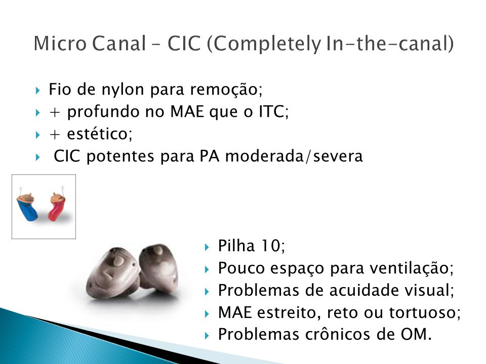 Micro Canal – CIC (Completely In-the-canal)