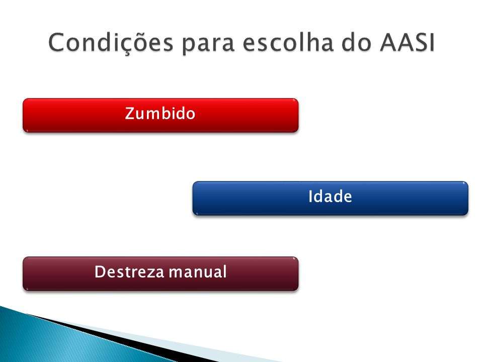 Condições para escolha do AASI