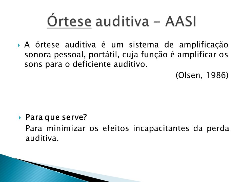 Órtese auditiva - AASI