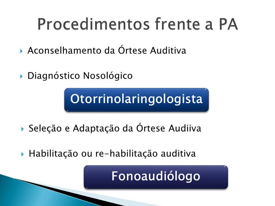 Procedimentos frente a PA