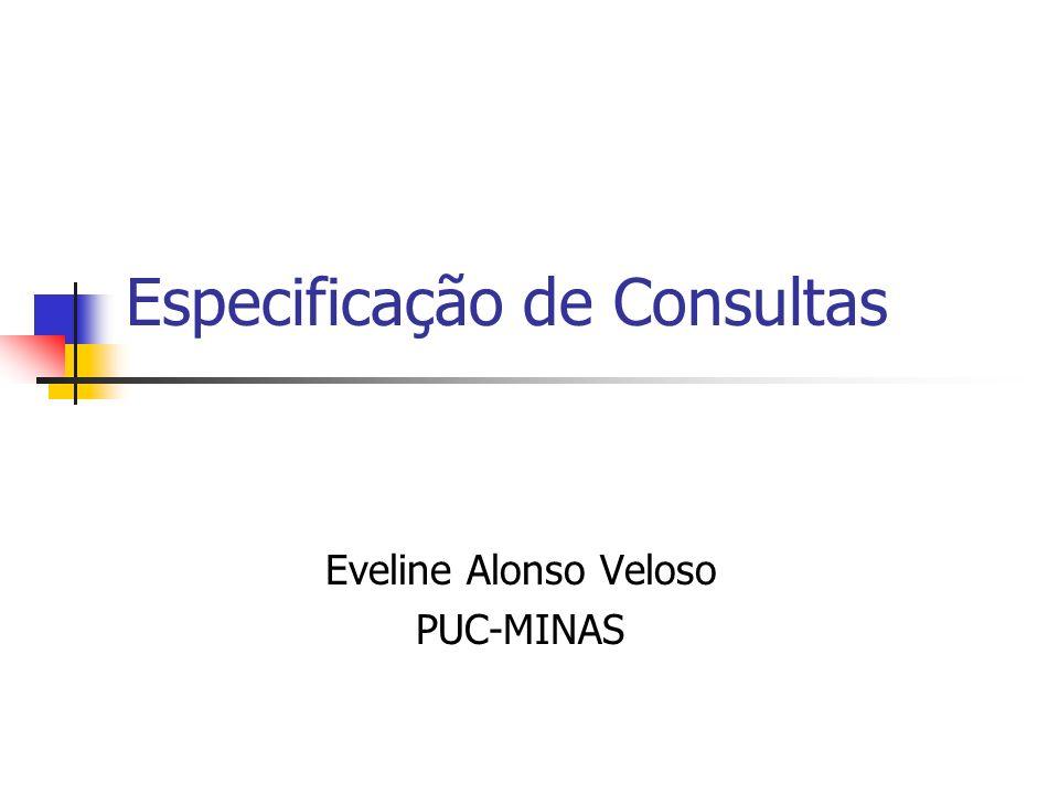 Especificação de Consultas