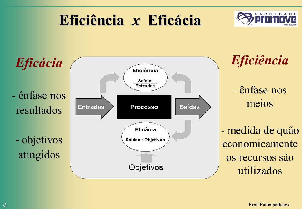 Eficácia - ênfase nos resultados - objetivos atingidos