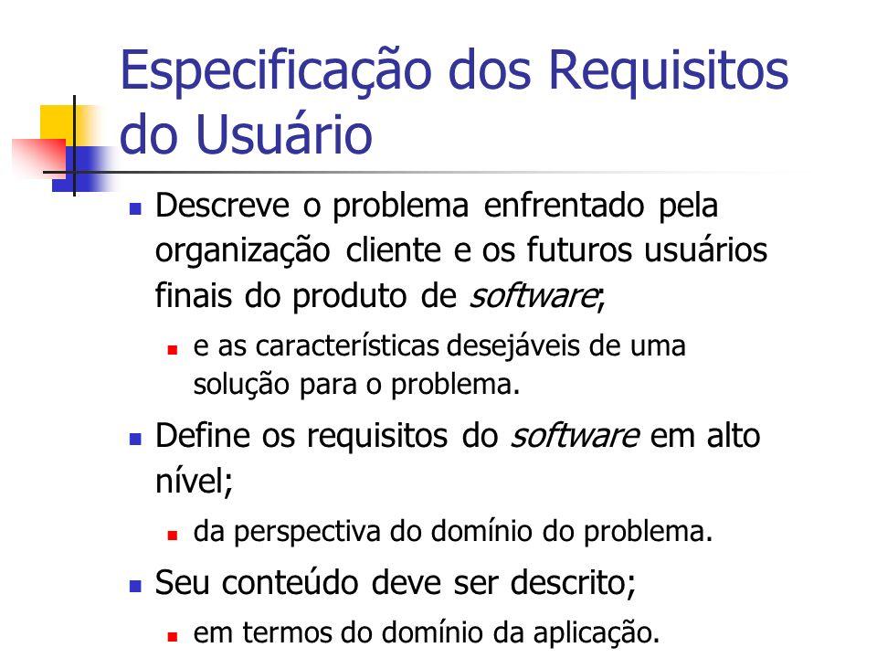 Especificação dos Requisitos do Usuário