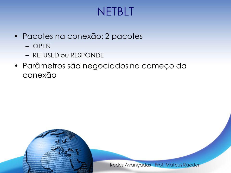 Redes Avançadas – Prof. Mateus Raeder