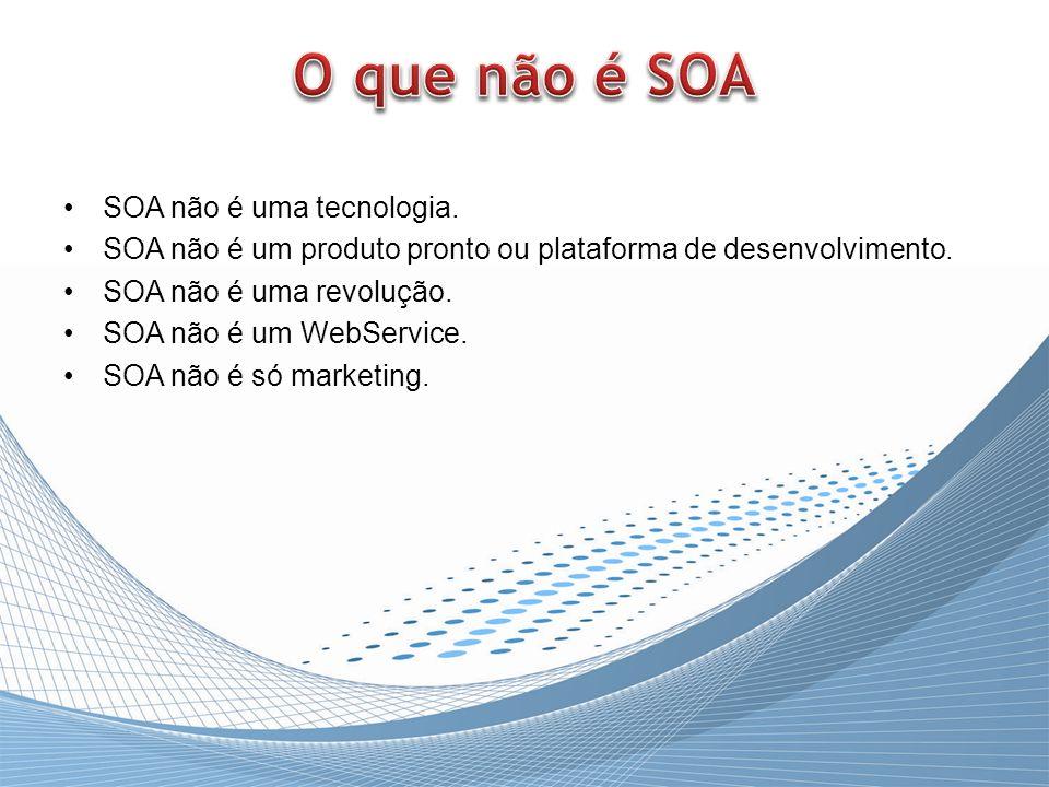 O que não é SOA SOA não é uma tecnologia.