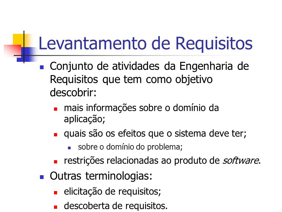 Levantamento de Requisitos