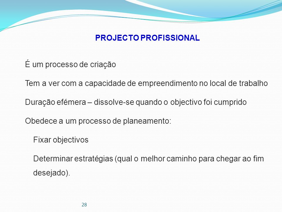 PROJECTO PROFISSIONAL