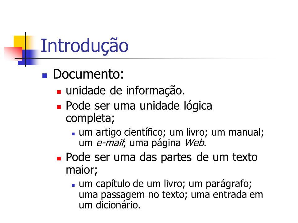 Introdução Documento: unidade de informação.