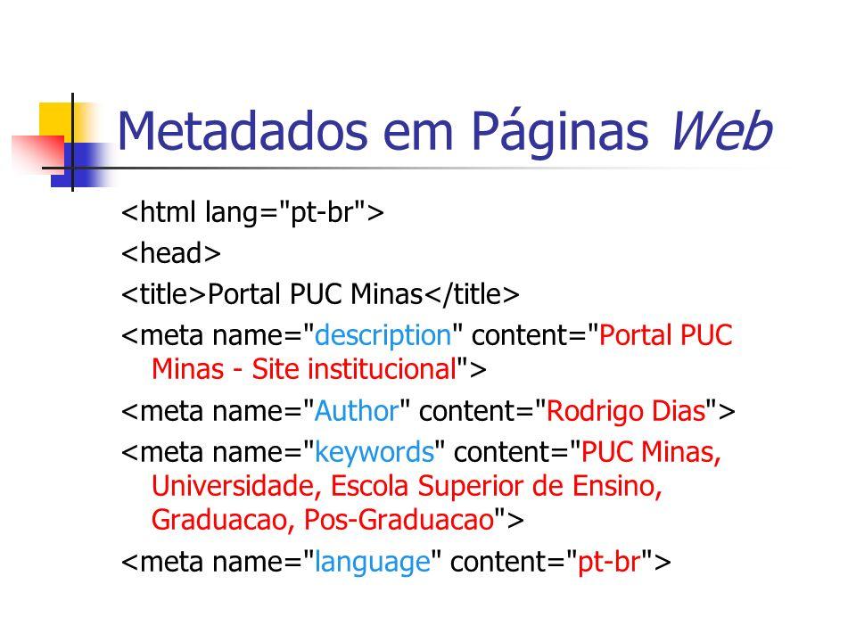 Metadados em Páginas Web