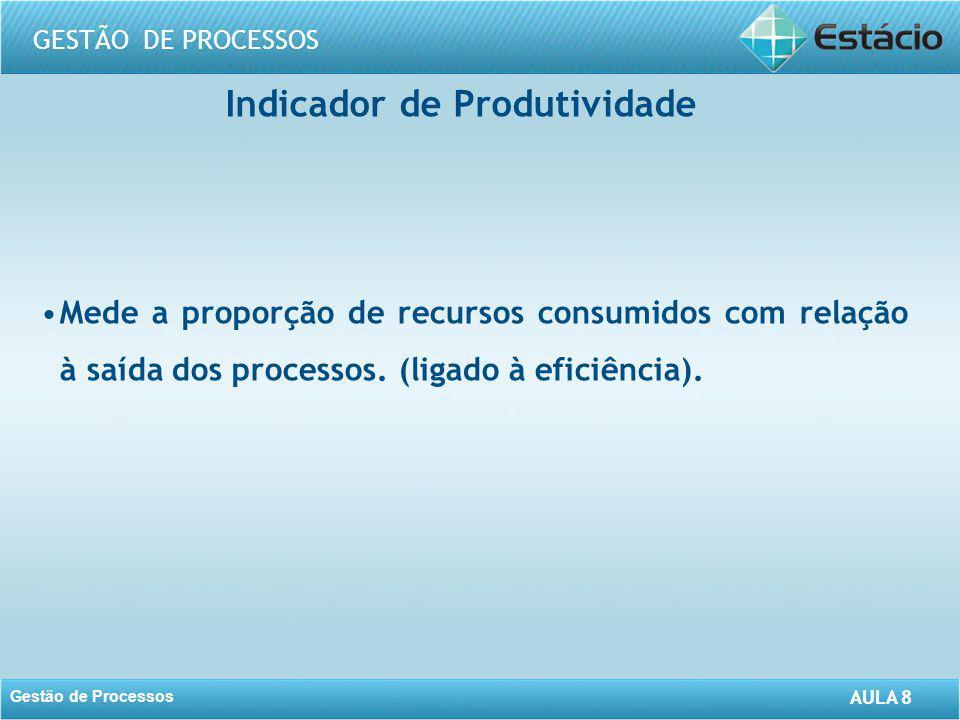 Indicador de Produtividade