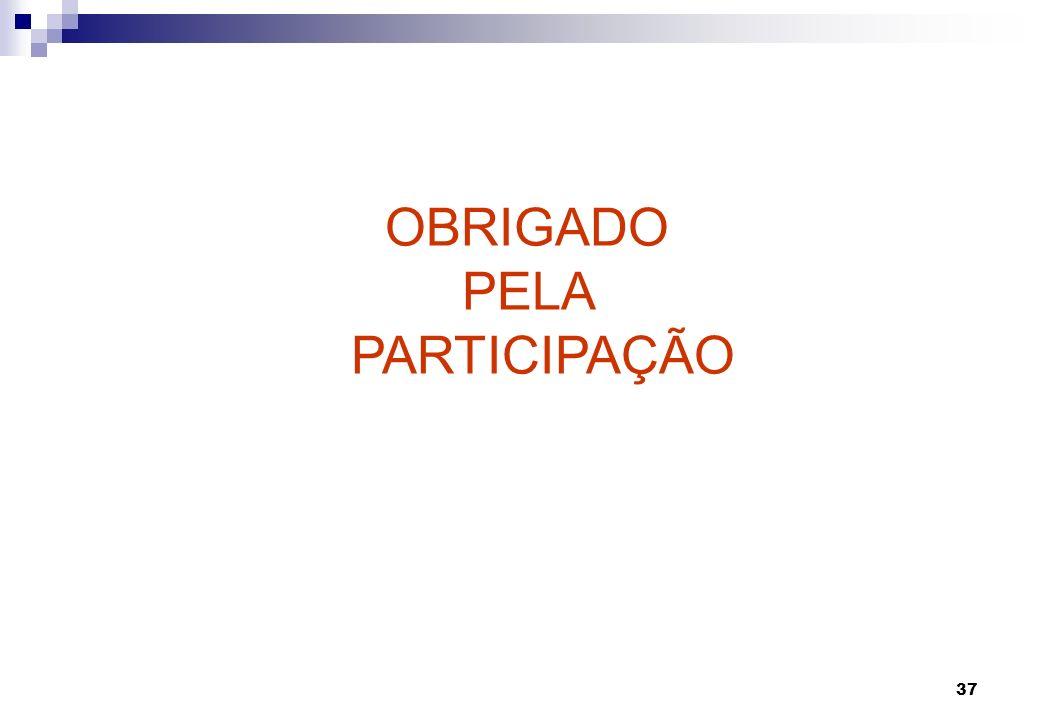 OBRIGADO PELA PARTICIPAÇÃO Cabos submarinos