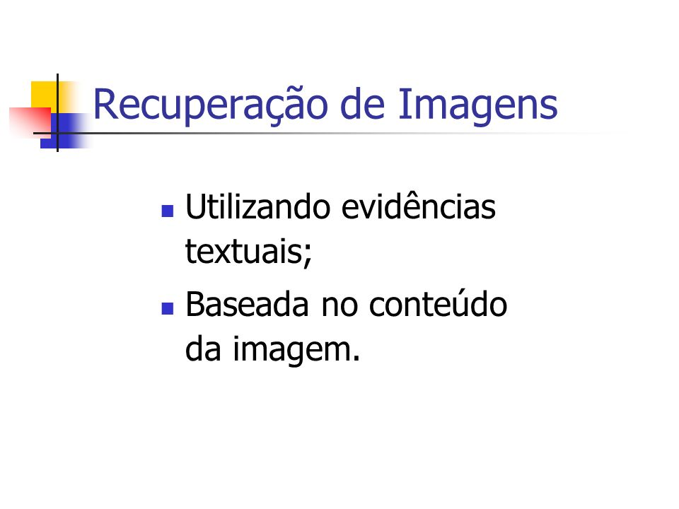 Recuperação de Imagens