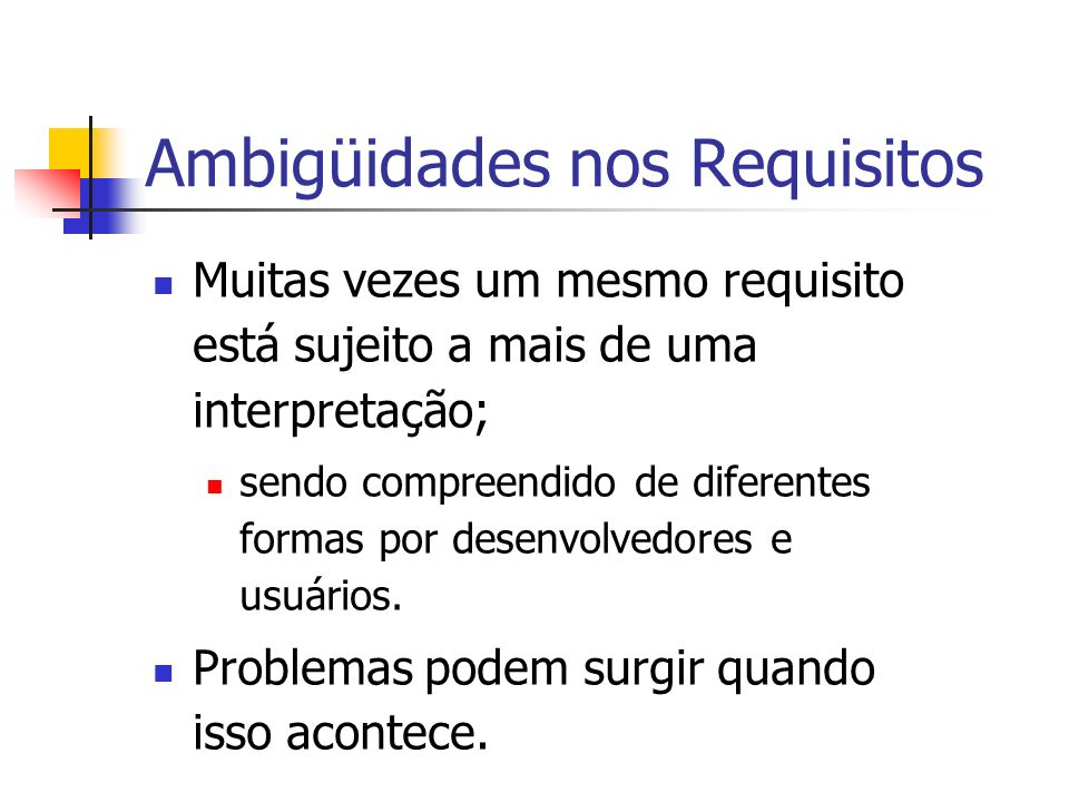 Ambigüidades nos Requisitos