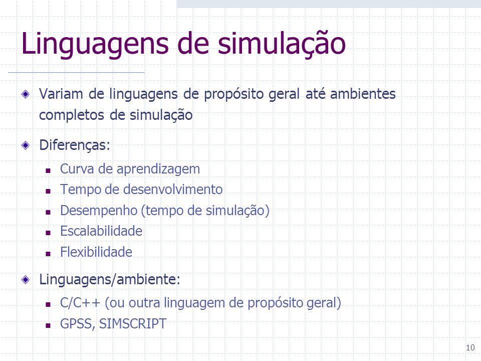 Linguagens de simulação