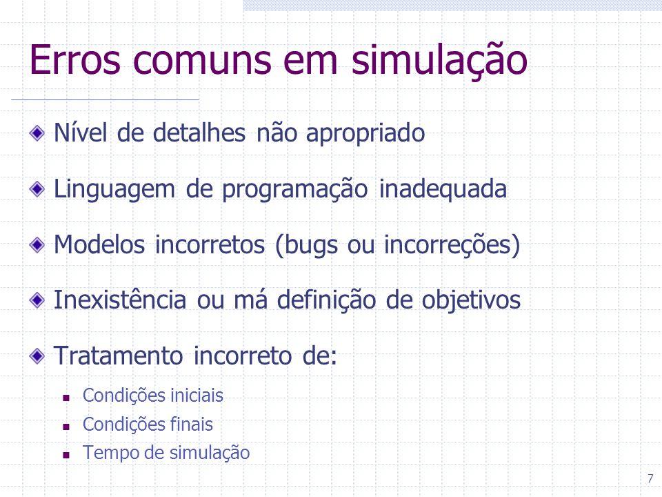 Erros comuns em simulação