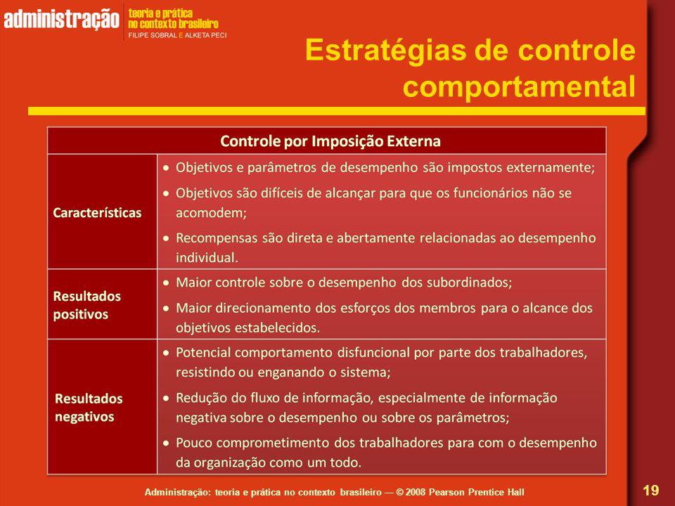 Estratégias de controle comportamental