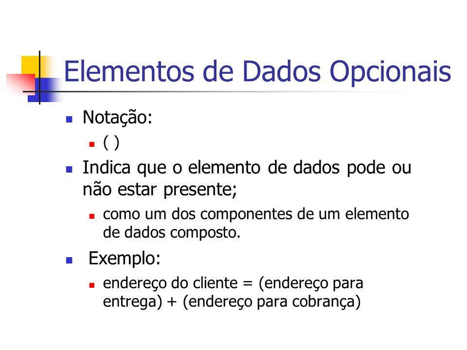 Elementos de Dados Opcionais