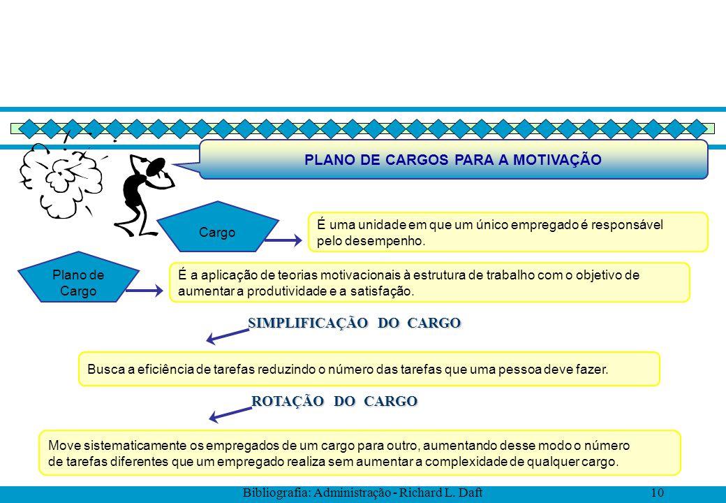 PLANO DE CARGOS PARA A MOTIVAÇÃO