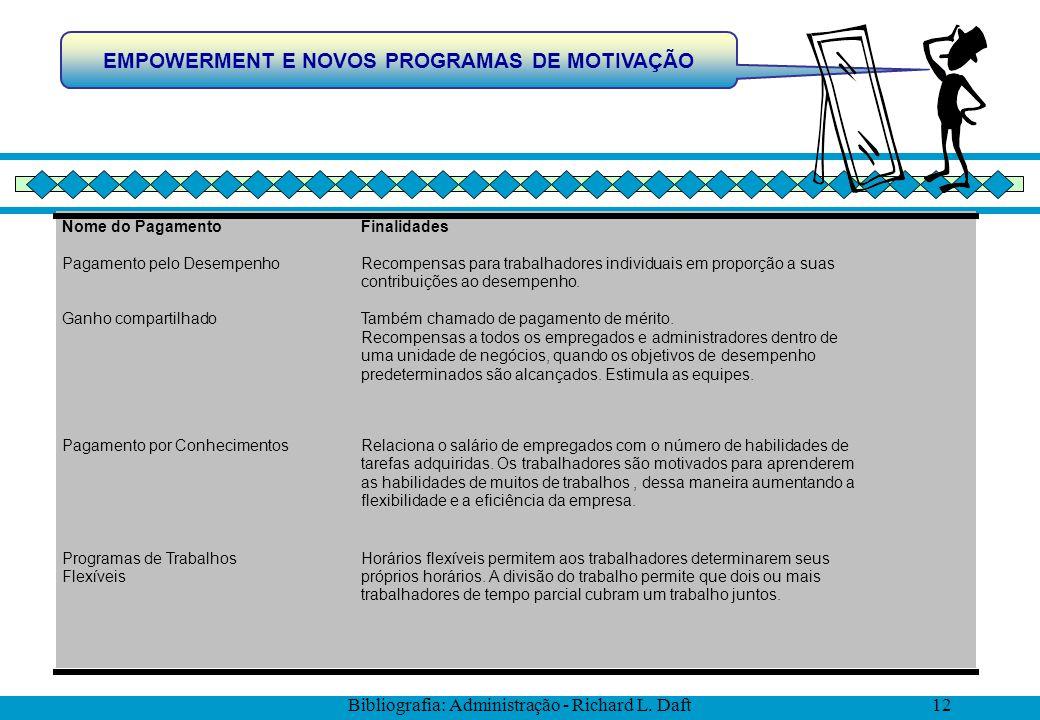 EMPOWERMENT E NOVOS PROGRAMAS DE MOTIVAÇÃO