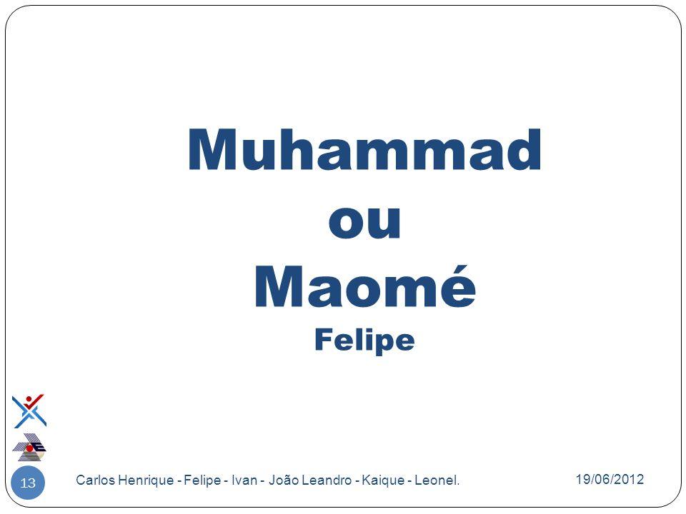Muhammad ou Maomé Felipe