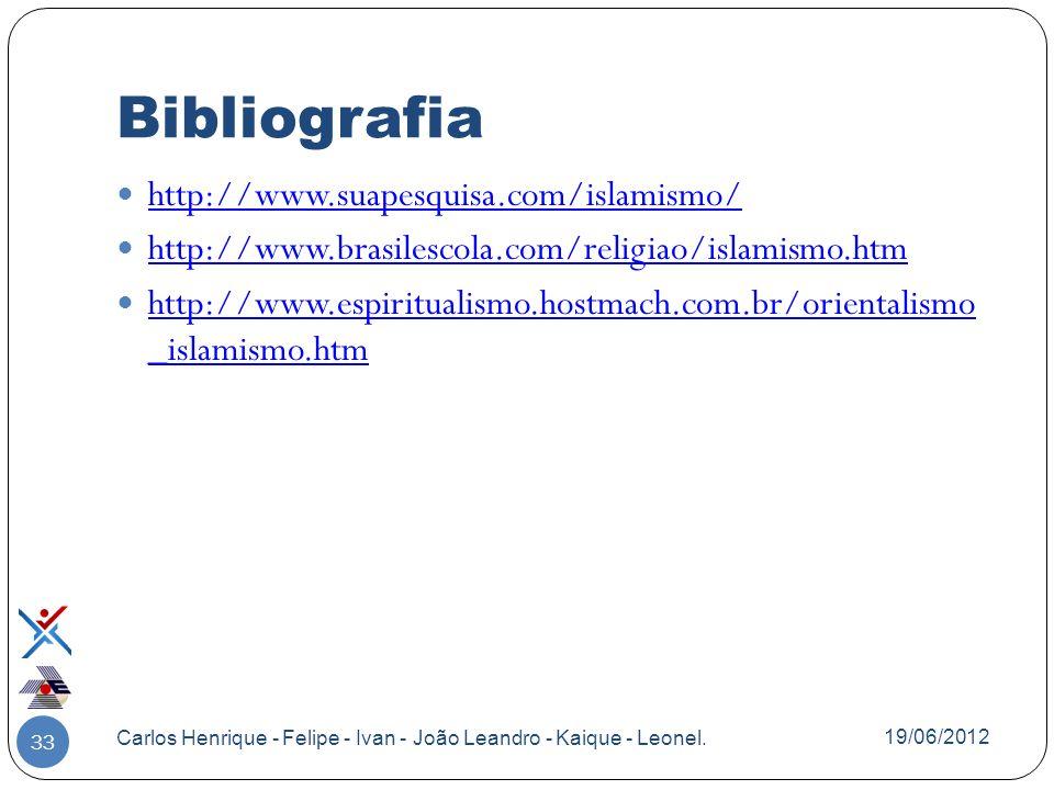Bibliografia http://www.suapesquisa.com/islamismo/