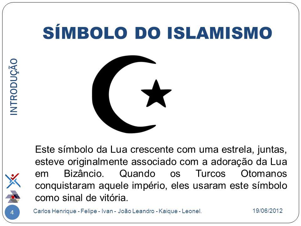 SÍMBOLO DO ISLAMISMO INTRODUÇÃO