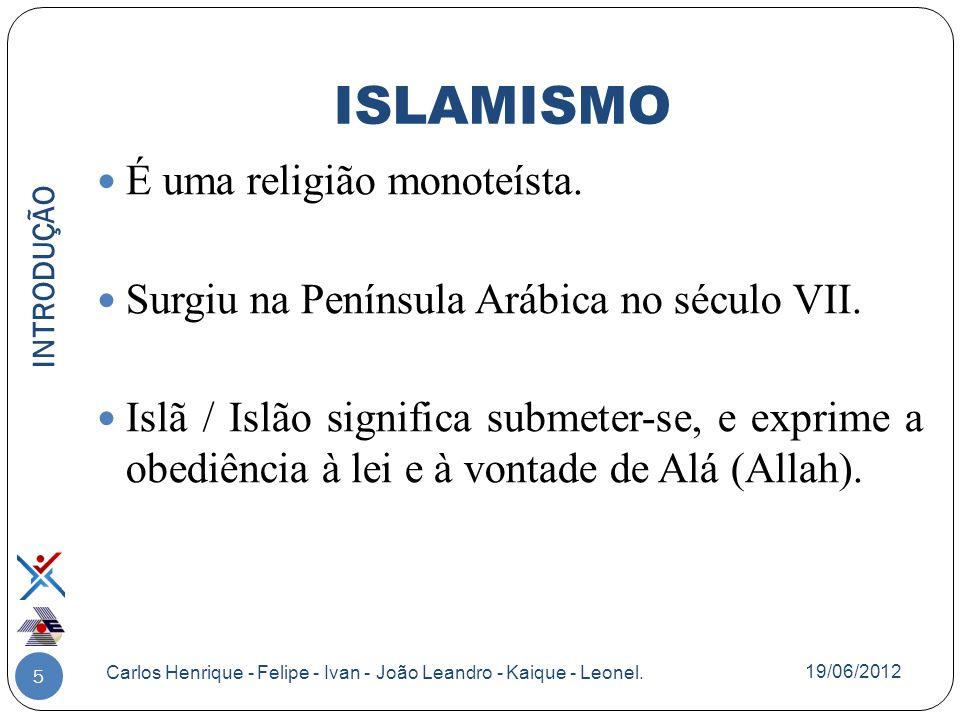 ISLAMISMO É uma religião monoteísta.