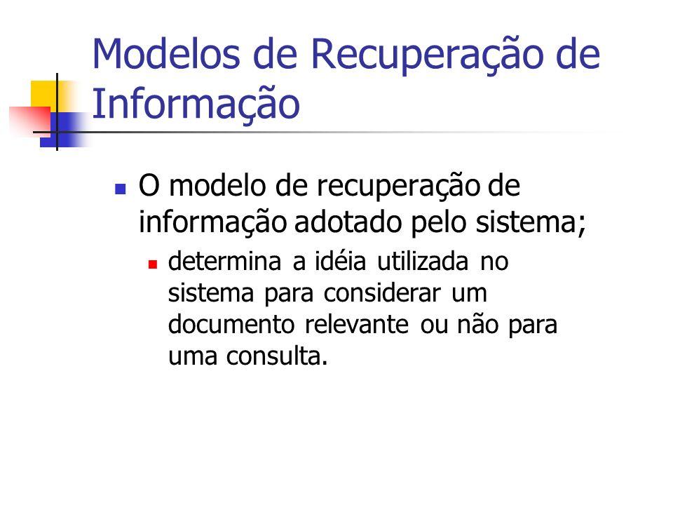 Modelos de Recuperação de Informação
