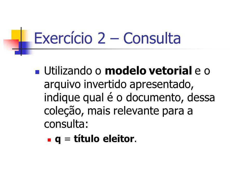 Exercício 2 – Consulta