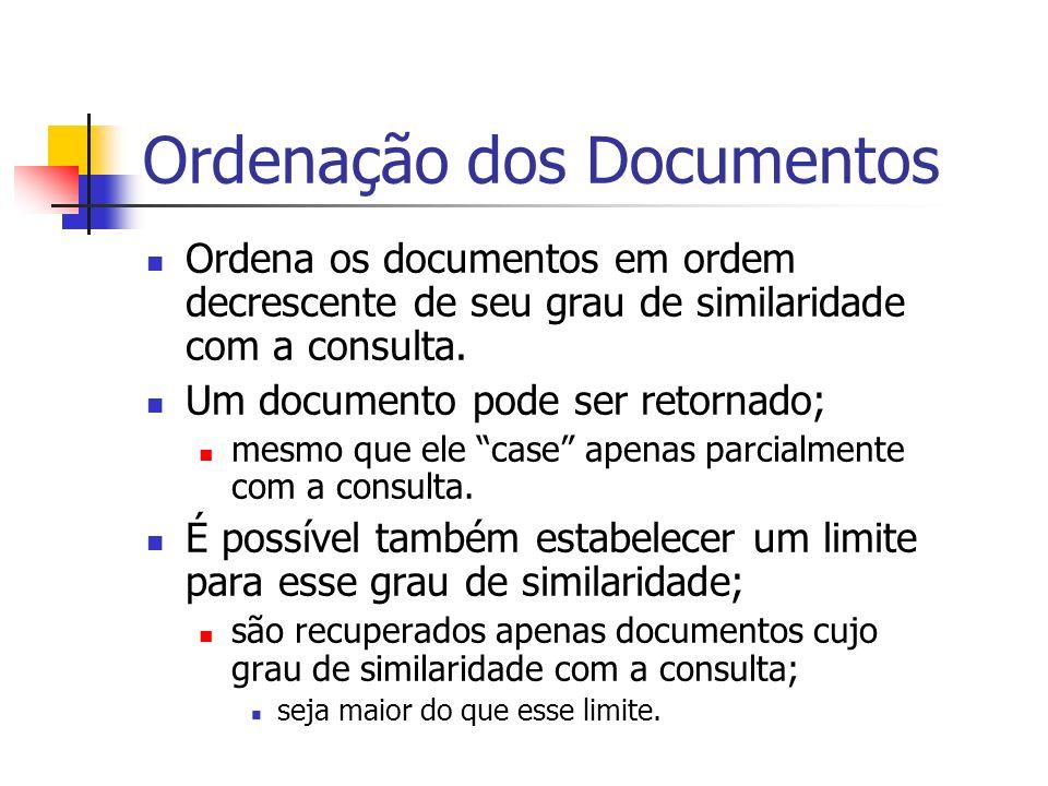 Ordenação dos Documentos