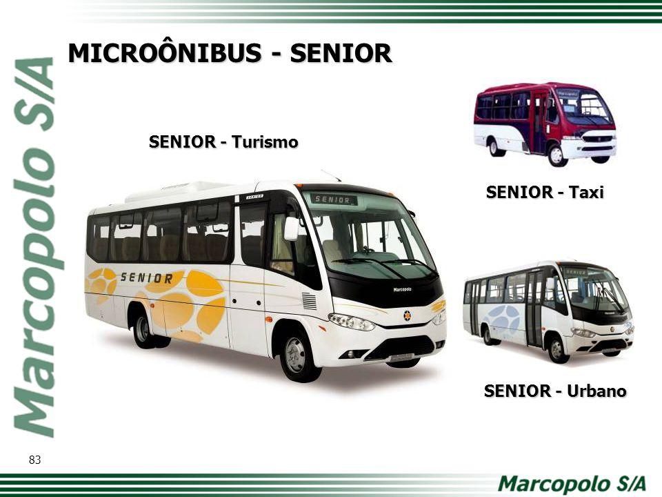 MICROÔNIBUS - SENIOR SENIOR - Turismo SENIOR - Taxi SENIOR - Urbano 83
